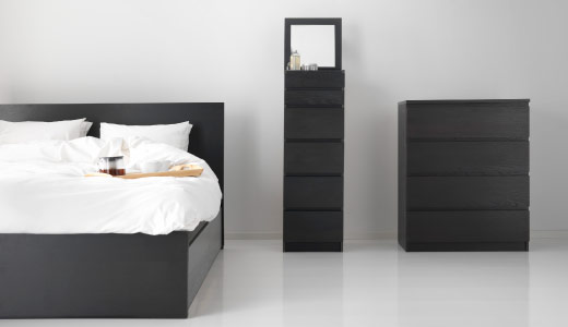 First Up Is The Malm Series We Don T Go A Day Without Seeing One Of The Following The Malm Bed Frame 6 Drawer Dresser And The 2 Drawer